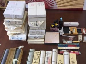 2017.07.22sapporo(書道具)#買取り#硯#墨#半紙#筆
