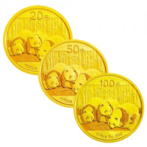パンダ金貨 10元 20元 100元