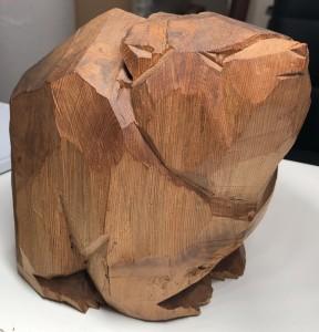 柴崎重行 木彫りの熊 2 北海道民芸品 骨董品 買取り 買取専門店 くらや札幌西店